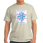 Blue/Pink Feet Refexology Ash Grey T-Shirt