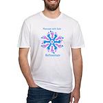 Blue/Pink Feet Refexology Fitted T-Shirt
