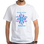 Blue/Pink Feet Refexology White T-Shirt