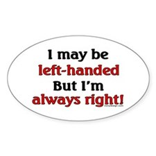 Left-Handed Decal