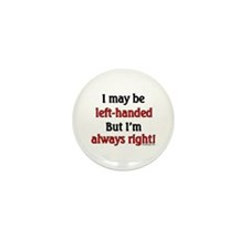 Left-Handed Mini Button (10 pack)