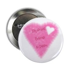 "My Heart Belongs To Daddy 2.25"" Button (100 pack)"