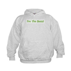 I'm The Boss! Green Kids Hoodie