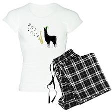 Llamas-D12-WhiteApparel pajamas