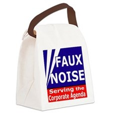 Faux NoiseCorporate Agenda Canvas Lunch Bag