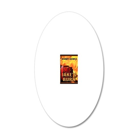 Jakes Burn greeting card 20x12 Oval Wall Decal