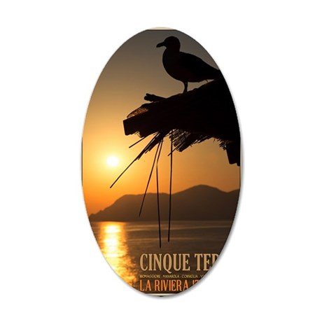 Cinque Terre Sunset 35x21 Oval Wall Decal