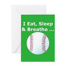Baseball Eat Sleep Breathe Iphone3 H Greeting Card
