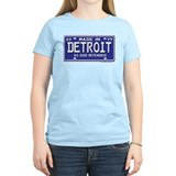 Made in Detroit 1977 License Women's Pink T-Shirt