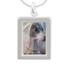 Bride to be Silver Portrait Necklace