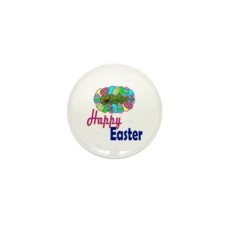 Happy Easter Bunny Mini Button (10 pack)