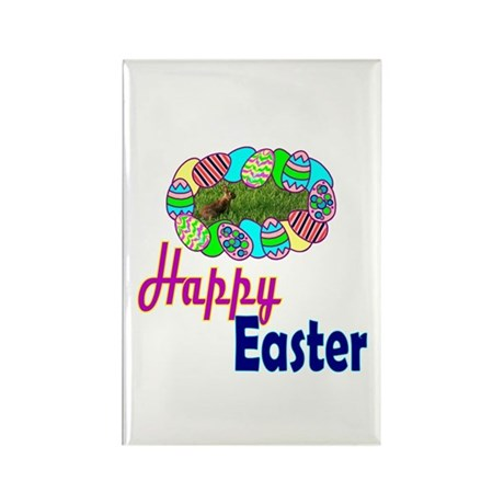 Happy Easter Bunny Rectangle Magnet (10 pack)