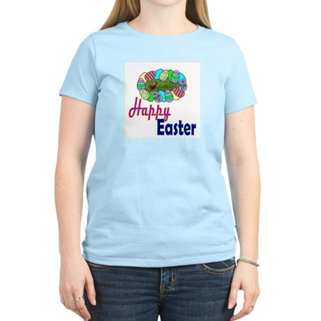 Happy Easter Bunny Women's Pink T-Shirt