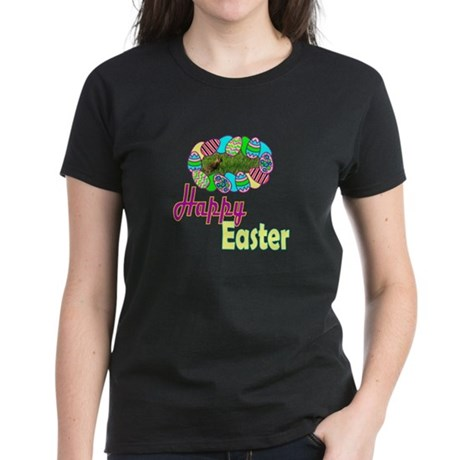 Happy Easter Bunny Women's Dark T-Shirt