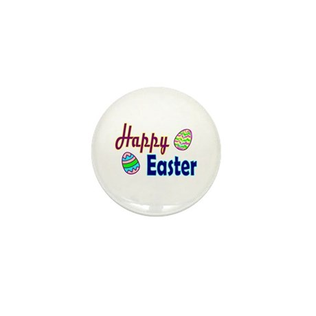 Happy Easter Eggs Mini Button (10 pack)
