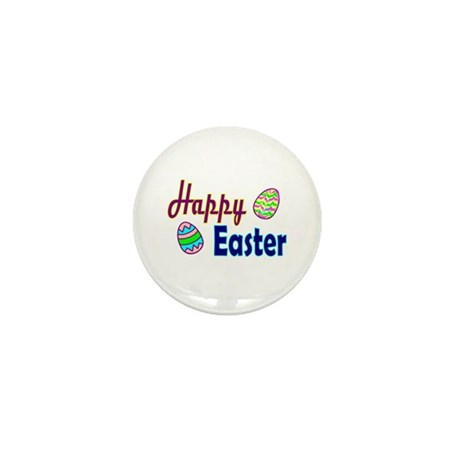 Happy Easter Eggs Mini Button