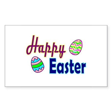 Happy Easter Eggs Rectangle Sticker