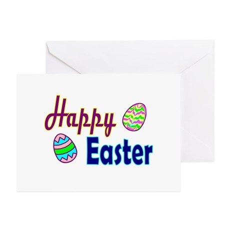 Happy Easter Eggs Greeting Cards (Pk of 10)