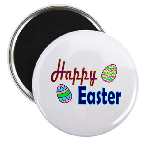 Happy Easter Eggs Magnet