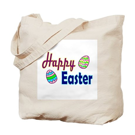 Happy Easter Eggs Tote Bag