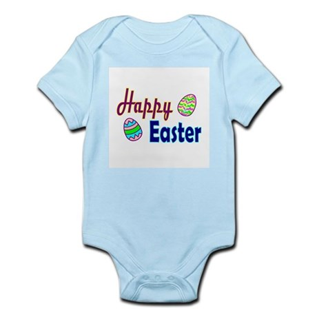 Happy Easter Eggs Infant Bodysuit