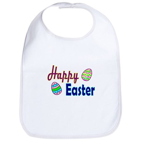 Happy Easter Eggs Bib