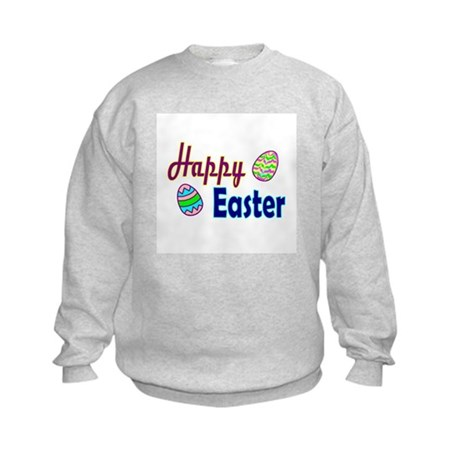 Happy Easter Eggs Kids Sweatshirt