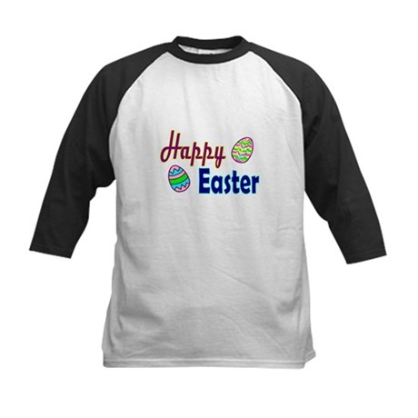 Happy Easter Eggs Kids Baseball Jersey