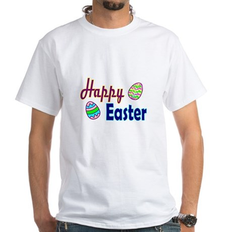 Happy Easter Eggs White T-Shirt