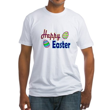 Happy Easter Eggs Fitted T-Shirt