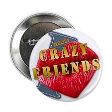 """CRAZYFIENDS--I-LOVE 2.25"""" Button"""