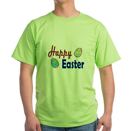 Happy Easter Eggs Green T-Shirt