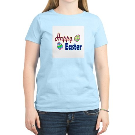 Happy Easter Eggs Women's Pink T-Shirt