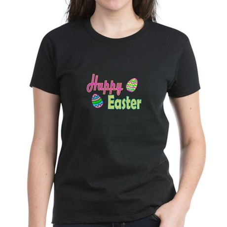 Happy Easter Eggs Women's Dark T-Shirt