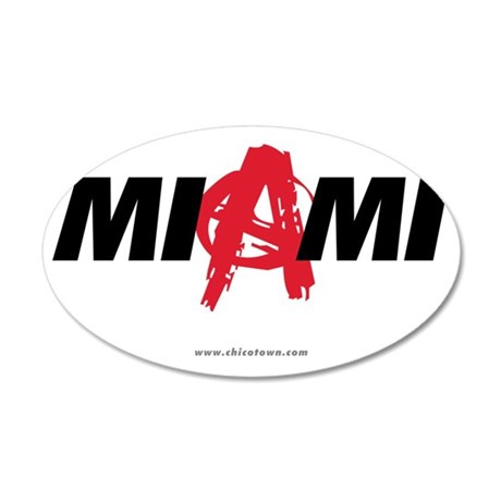 miami-anarchy-white 35x21 Oval Wall Decal