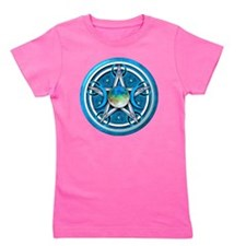 Blue Triple Goddess Pentacle Girl's Tee