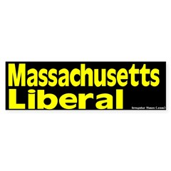 Massachusetts Liberal Bumper Sticker