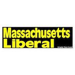 Massachusetts Liberal Bumper Sticker
