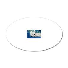 Westie4x6 20x12 Oval Wall Decal