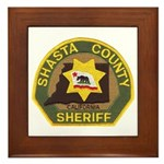 Shasta County Sheriff Framed Tile