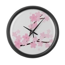 Sakura Large Wall Clock