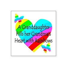 """#1 GRANDDAUGHTER Square Sticker 3"""" x 3"""""""