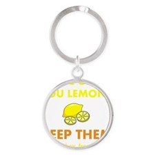 Keep Lemons Yellow Round Keychain