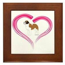 ColorSaintinHeart Framed Tile