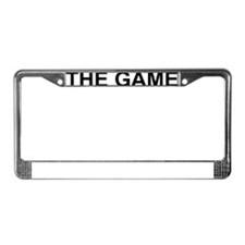 The Game2 black License Plate Frame