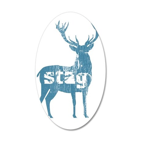 buck_dark 35x21 Oval Wall Decal