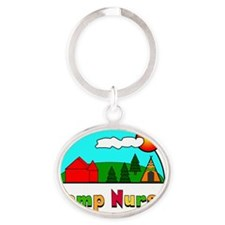 Camp Nurse Oval Keychain