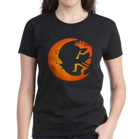 Kokopelli & Moon Women's Dark T-Shirt