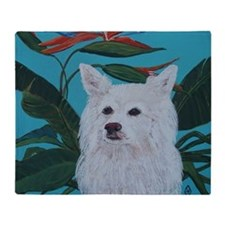 American Eskimo 5x7 Throw Blanket