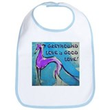 Greyhound Love Bib